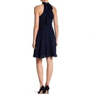 Betsey Johnson Dresses - Navy Chiffon Fit and Flare